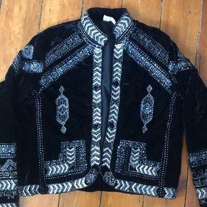 RAGA Embellished Velvet Jacket